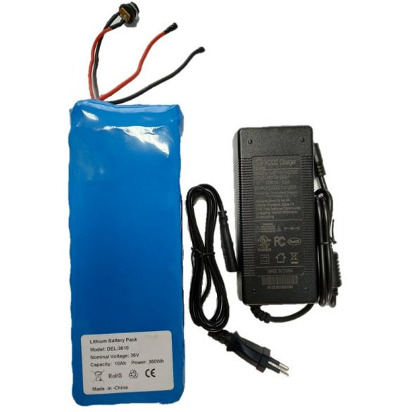 36V 12Ah Li-ion 6-DZM-9 elektromos kerékpár akkumulátor
