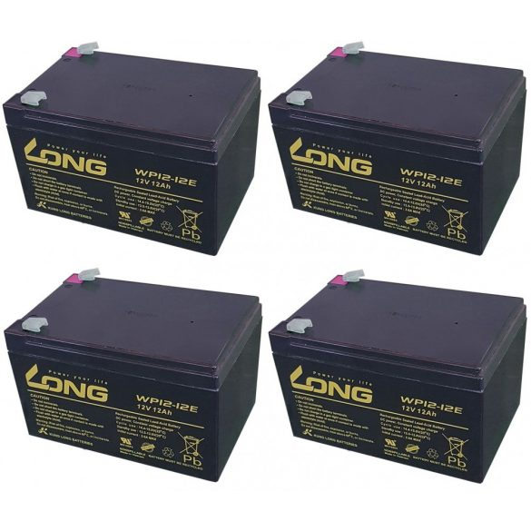 48V 12Ah Long WP12-12 6-DZM-10 6-DZM-12 ciklikus elektromos kerékpár akkumulátor