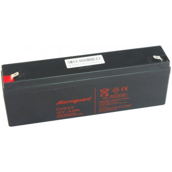 Alarmguard CJ12-2.2 12V 2,2Ah zselés akkumulátor