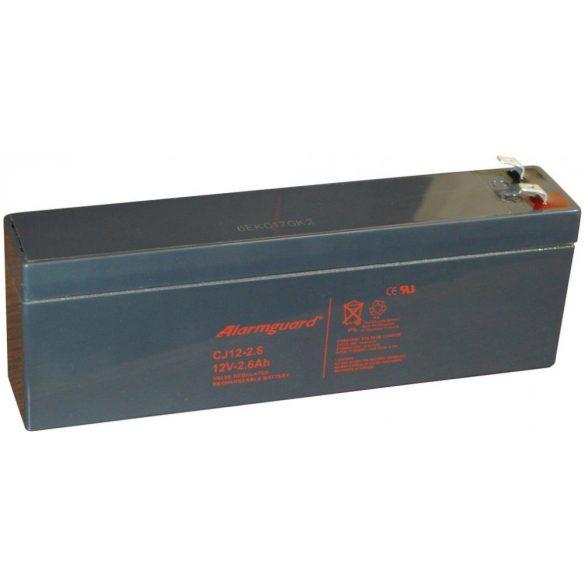 Alarmguard CJ12-2.6 12V 2,6Ah zselés akkumulátor