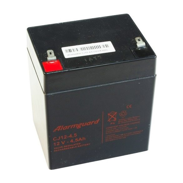 Alarmguard CJ12-4.5 12V 4,5Ah zselés akkumulátor