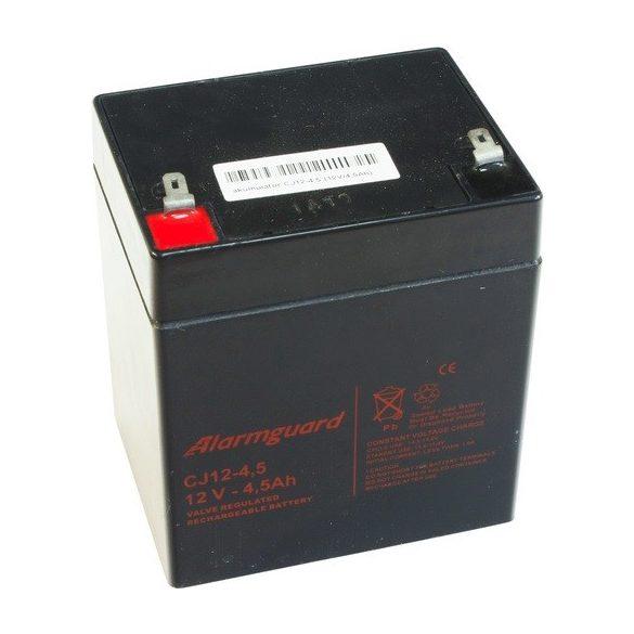 Alarmguard CJ12-4.5 12V 4.5Ah zselés akkumulátor