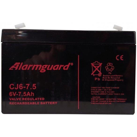 Alarmguard CJ6-7.5 6V 7,5Ah zselés akkumulátor