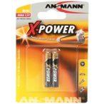 Ansmann AAAA X-Power LR61 tartós mikro elem