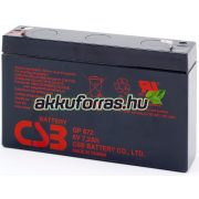 CSB GP672 6V 7,2Ah zselés akkumulátor