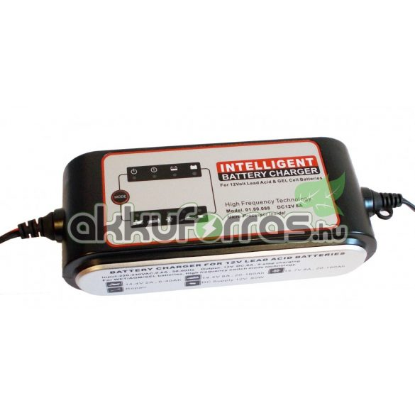 Carstel 12V 8A zselés akkumulátor töltő
