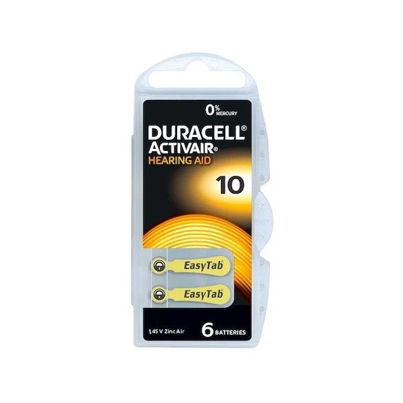 Duracell ACTIVAIR 10 (PR10,PR230) hallókészülék elem