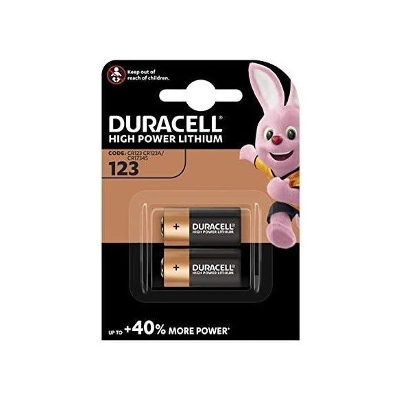 Duracell 123 CR123 DL123 elem