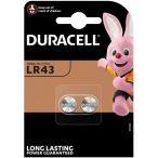 Duracell LR43 AG12 alkáli tartós gombelem