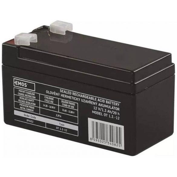 EMOS GT12-1.3 12V 1,3Ah B9652 zselés akkumulátor