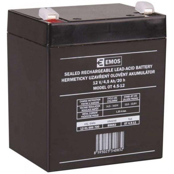 EMOS 12V 4,5Ah OT 4.5-12 B9653 zselés akkumulátor
