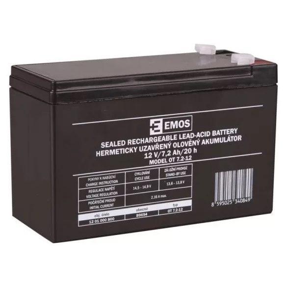EMOS OT 7.2-12 T1 12V 7,2Ah B9654 zselés akkumulátor