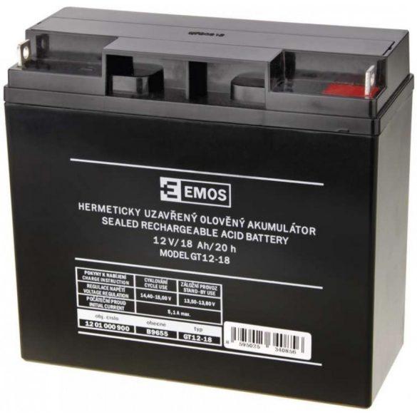 EMOS GT12-18 12V 18Ah B9655 zselés akkumulátor
