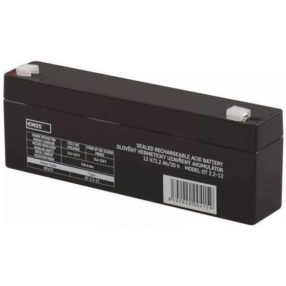 EMOS OT 2.2-12 12V 2,2Ah B9672 zselés akkumulátor
