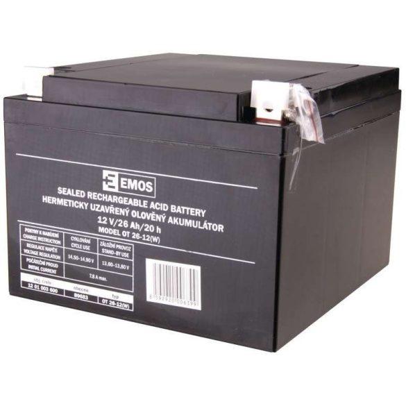 EMOS OT 26-12 12V 26Ah B9683 zselés akkumulátor