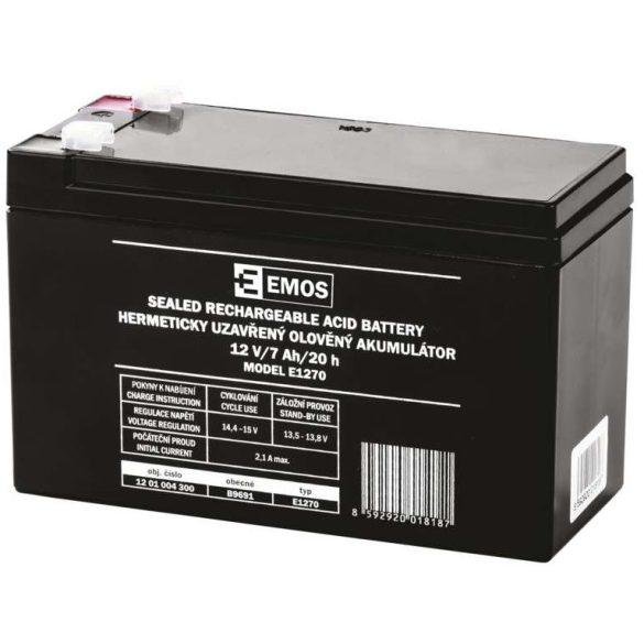 EMOS E1270 12V 7Ah B9691 zselés akkumulátor