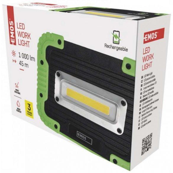 EMOS P4533 LED WORK LIGHT 1000lm 45m 3,7V 4400mAh Li-ion akkumulátoros LED lámpa
