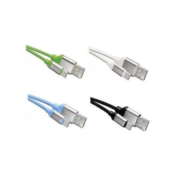 EMOS SM7025 USB kábel 2.0 A - C dugó 1M mobiltelefon töltő kábel
