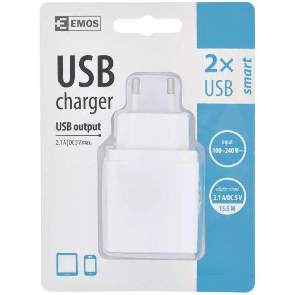 EMOS V0114 SMART univerzális USB hálózati mobiltelefon töltő adapter