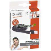 EMOS i16p USB kábel 2.0 iPhone és iPad mobiltelefon töltő
