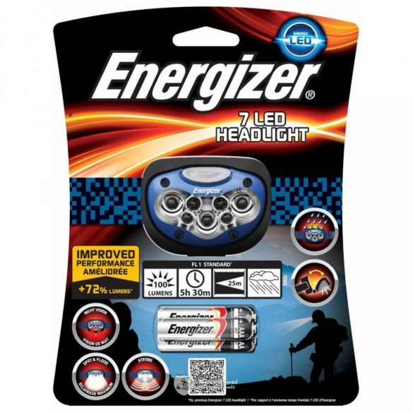 Energizer 7 LED HEADLIGHT 100 lumen 3XAAA LED fejlámpa