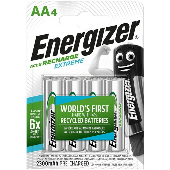 Energizer EXTREME AA 2300mAh HR6 4db ceruza elem méretű akkumulátor