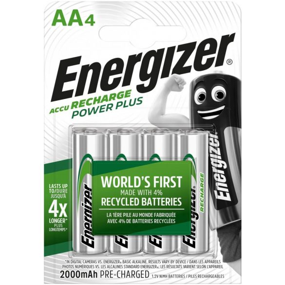 Energizer POWER PLUS AA 2000mAh HR6 4db ceruza elem méretű akkumulátor