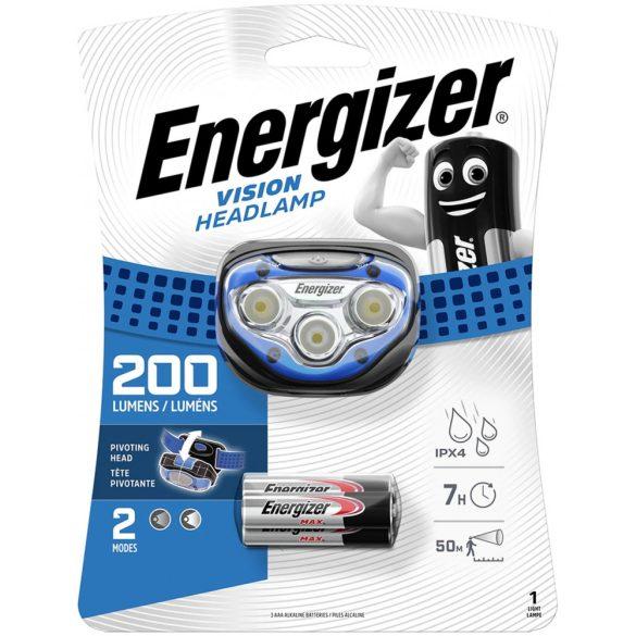 Energizer VISION HEADLIGHT 200 lumen 3XAAA 3 Led fejlámpa