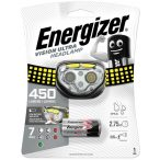 Energizer VISION ULTRA 450 lumen 3XAAA 4 LED fejlámpa