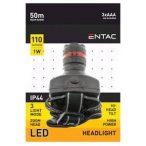 Entac 1W 110lm fókuszálható plasztik LED fejlámpa