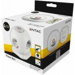 Entac Power Ball H05VV-F 3G1.5mm2 gömb elosztó, 2XUSB