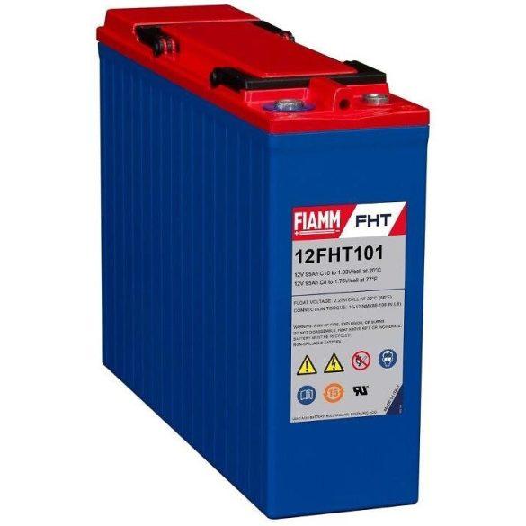 FIAMM 12FHT101 12V 95Ah Front terminál távközléstechnikai zselés akkumulátor