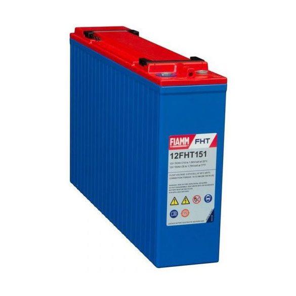 FIAMM 12FHT151 12V 150Ah Front terminal ipari távközléstechnikai zselés akkumulátor