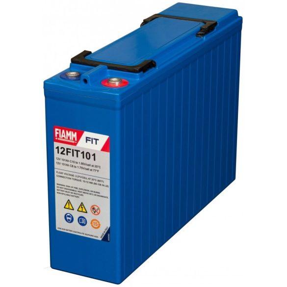 FIAMM 12FIT101 12V 101Ah Front terminal ipari távközléstechnikai zselés akkumulátor