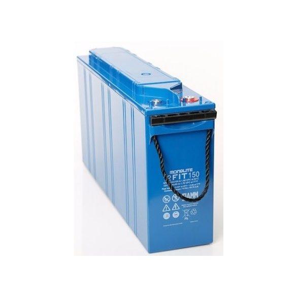 FIAMM 12FIT151 12V 150Ah Front terminal ipari távközléstechnikai zselés akkumulátor