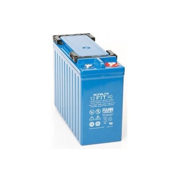 FIAMM 12FIT40 12V 40Ah Front terminal ipari távközléstechnikai zselés akkumulátor