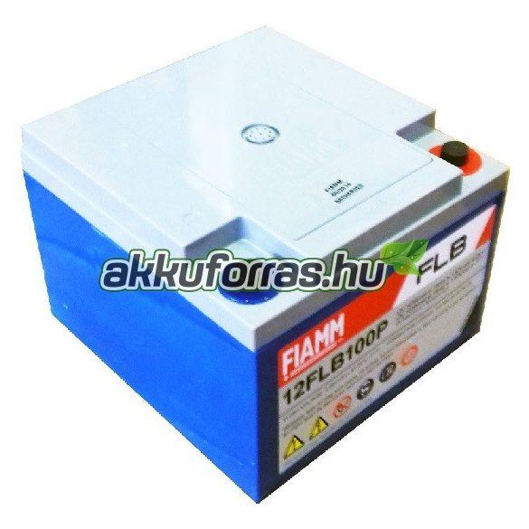 FIAMM 12FLB100P 12V 26Ah nagy kisűtőáramú zselés akkumulátor