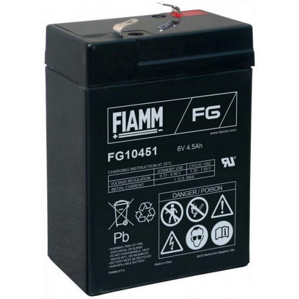 FIAMM 6V 4,5Ah F1 FG10451 gondozásmentes akkumulátor