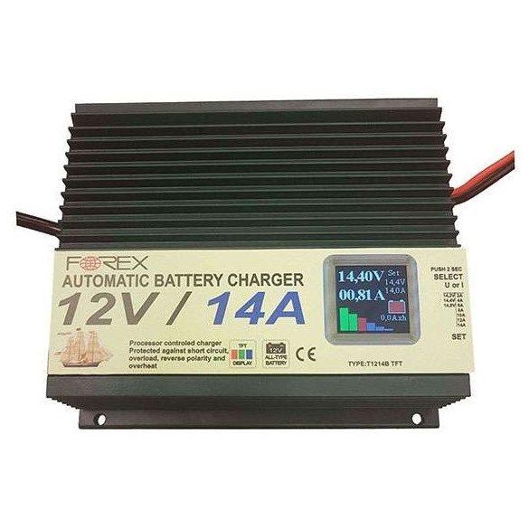 Forex 12V 14Ah T1214TFT automata zselés akkumulátor töltő