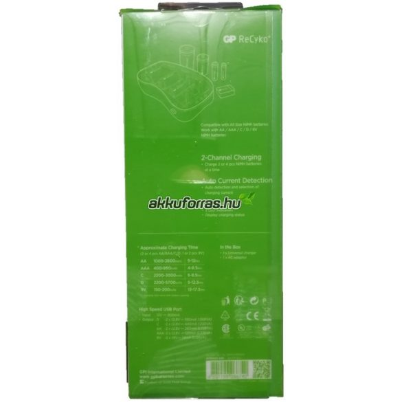 GP PB19 B0019 AA AAA C D 9V B631 B55630 univerzális elem akkumulátor töltő