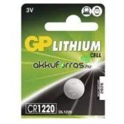 GP CR1220, DL1220 3V Lithium gombelem