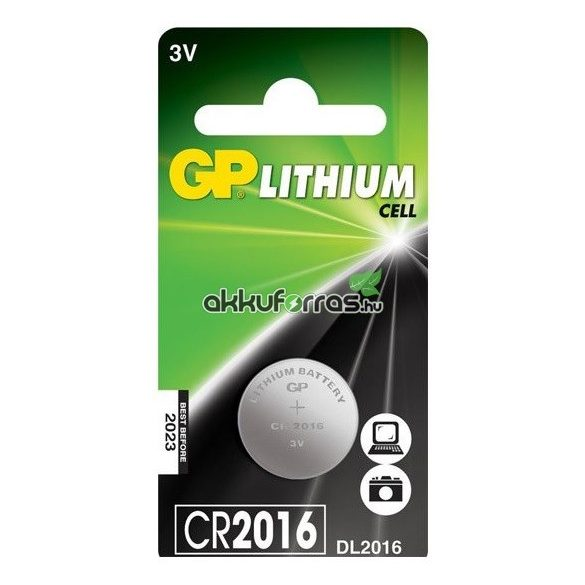 GP CR2016, DL2016 Lithium gombelem