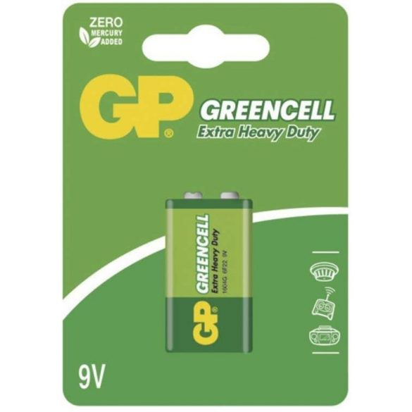 GP GREENCELL 6F22 féltartós 9V elem