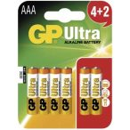 GP ULTRA AAA LR03 6db mikro elem