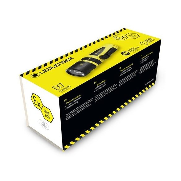LEDLENSER EX7 500836 3XAA 200 lm CRI65 robbanásbiztos ATEX LED elemlámpa