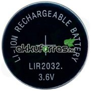 LIR2032 OEM 3,6V-os (CR2032) 45mAh Li-ion akkumulátor