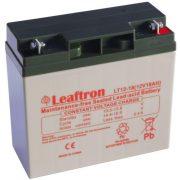 12V 18Ah Leaftron LT12-18 zselés akkumulátor