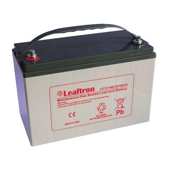Leaftron LTC12-100 12V 100Ah ciklikus elektromos kerékpár akkumulátor