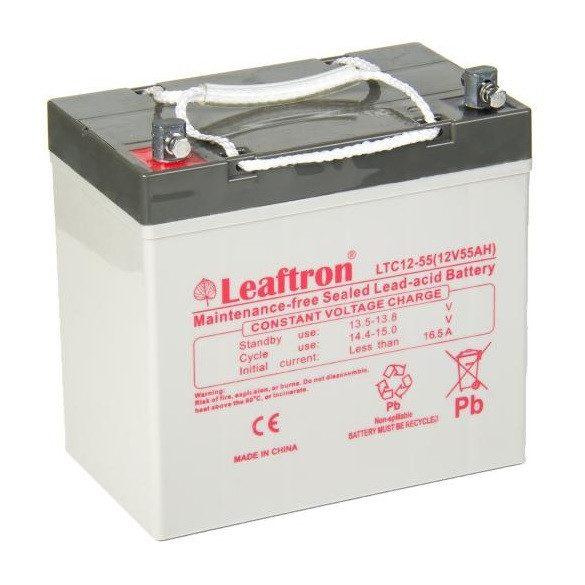 Leaftron  LTC12-55 12V 55Ah ciklikus elektromos kerékpár akkumulátor