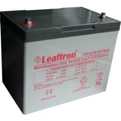 Leaftron LTC12-75 12V 75Ah elektromos kerékpár akkumulátor